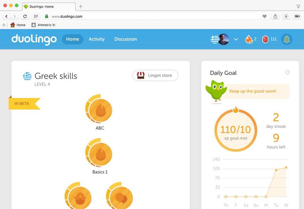 duolingo apprentissage langue
