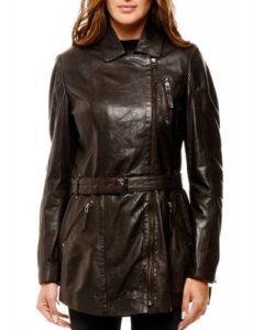 veste cuir femme