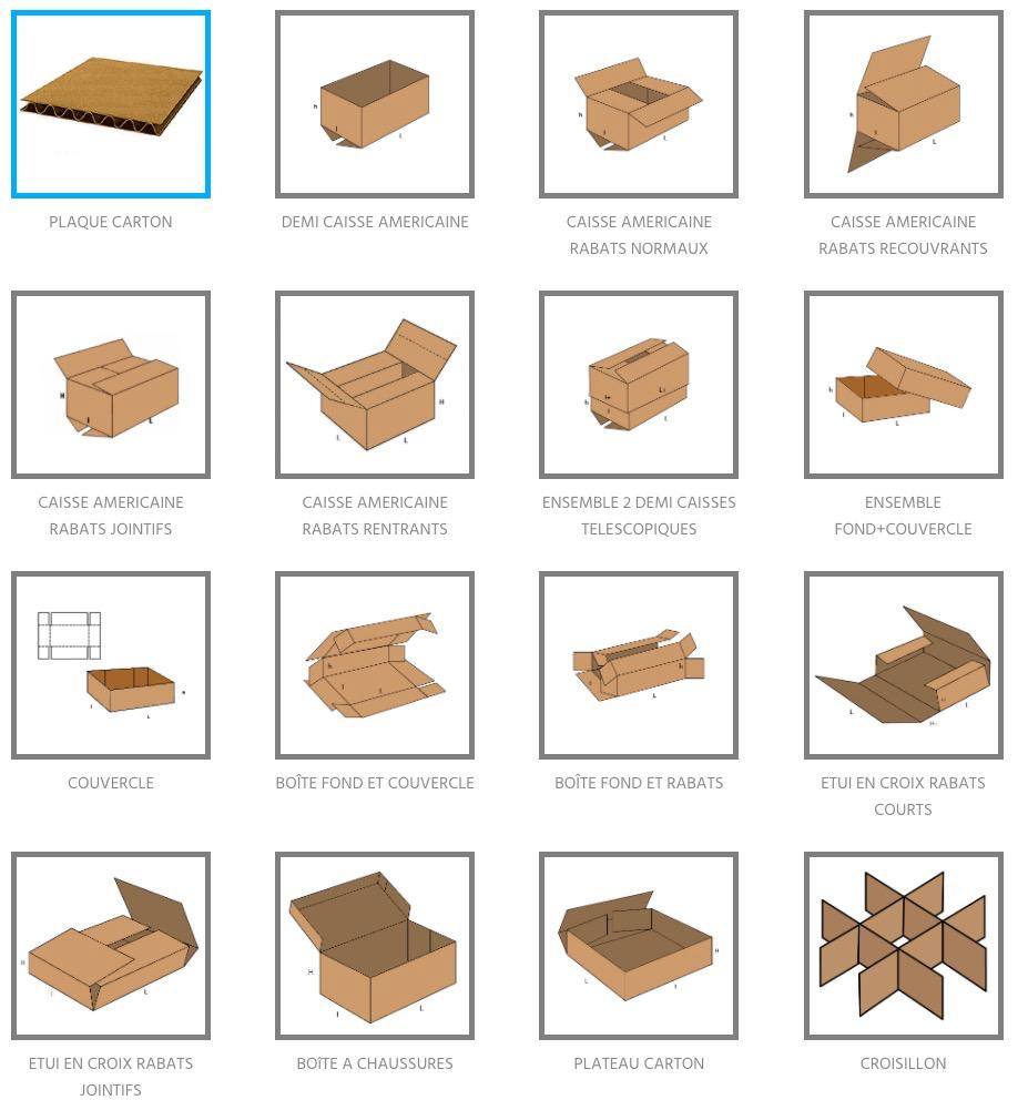 caisses carton sur mesure